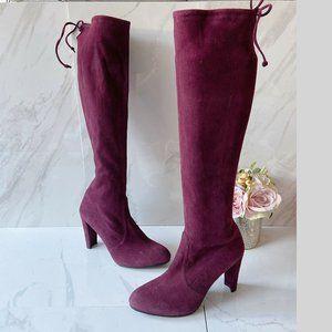 Stuart Weitzman Keenland Heel Knee High Boots Red